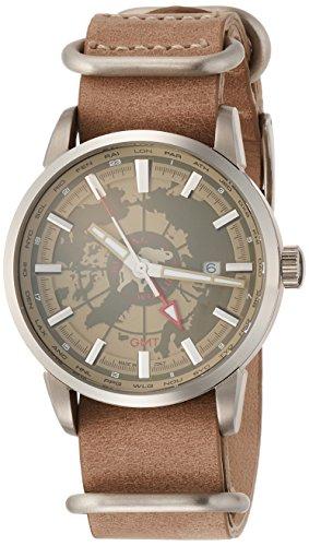 [ハンティングワールド]HUNTING WORLD 腕時計 スーブニール クォーツ ベージュレザー GMT 5気圧防水 HW027BE メンズ 【正規輸入品】