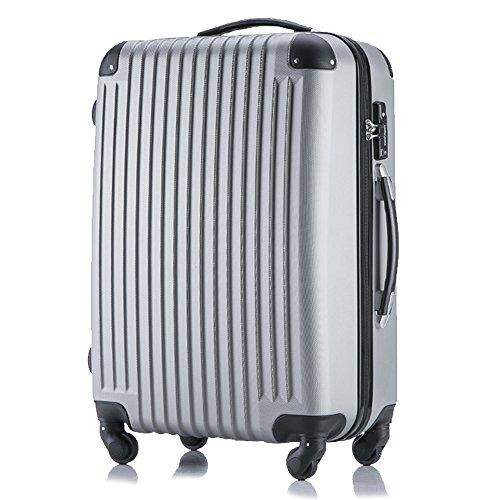 (トラベルデパート) 超軽量スーツケース TSAロック付 (SSサイズ(機内持込/LCC対応), グレー)