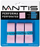 MANTIS(マンティス) PERFORMA PERFORATED(パフォーマパフォーレイテッド)、オーバーグリップテープ、3本入り、穴あき、ピンク **-MNT-OG-PF