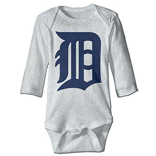 OneMBoss ベビー 男の子 女の子 赤ちゃん ロンパース 長袖 肌着 0-24M デトロイト・タイガース ジャンプスーツ 幼児服,