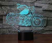 3Dナイトライトビジュアルバイク3Dイリュージョン7色USB LEDタッチの変更とRemontデスクテーブルランプASホームデコレーションタッチスイッチ7色の変更