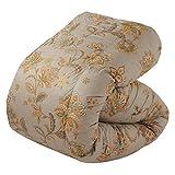 東京西川 羽毛布団 シングル シベリアンマザーシルバーグースダウン93% 日本製 更紗柄 ブルー KA06007007A2