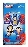 Kids Valentines Classroom Exchange Cards (Justice League 32 Valentines Stickers Teachers Card) [並行輸入品]