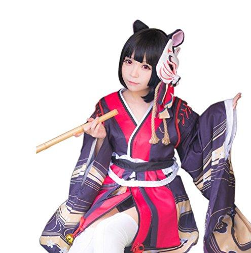 Cai Hong コスプレ衣装 アズールレーン 向き 山城 コスプレ 衣装 コスチューム Sレア 209 重桜 戦艦  (M)