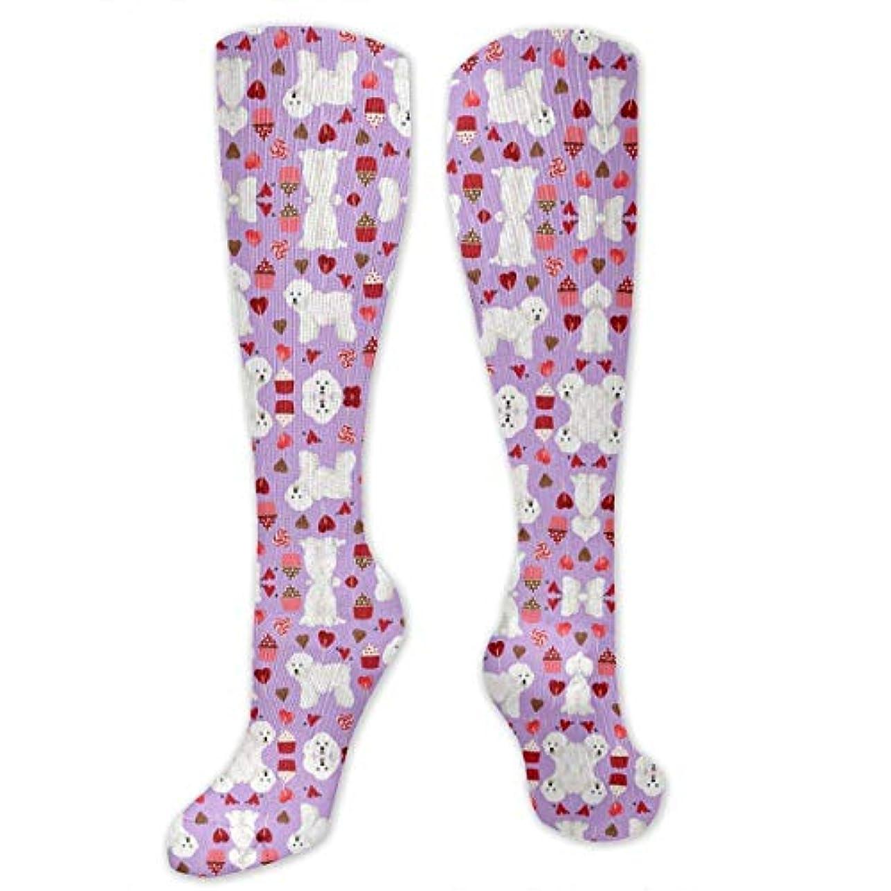 安西中古監督する靴下,ストッキング,野生のジョーカー,実際,秋の本質,冬必須,サマーウェア&RBXAA Bichon Frise Valentines Day Socks Women's Winter Cotton Long Tube...