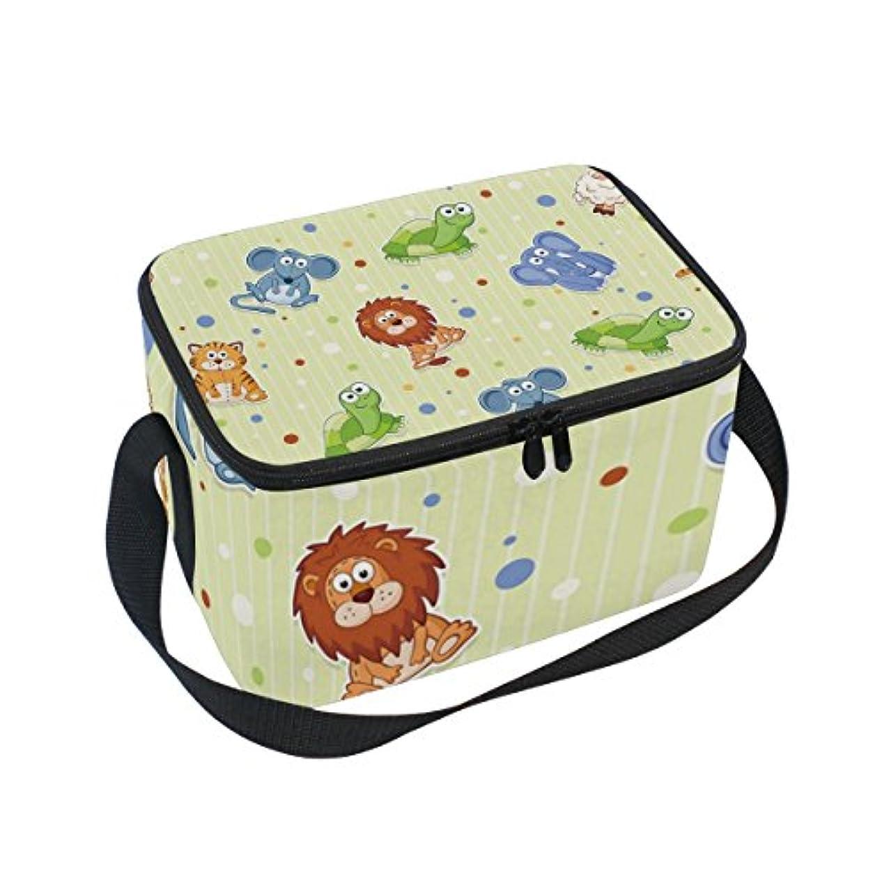 素晴らしさ非難する端末クーラーバッグ クーラーボックス ソフトクーラ 冷蔵ボックス キャンプ用品  象 ライオン 動物たち 保冷保温 大容量 肩掛け お花見 アウトドア