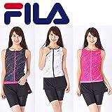 FILA(フィラ)レディース フィットネス 水着 パンツ付き 3点セット 315208 315-208 (PK(ピンク), 13号(Lサイズ))