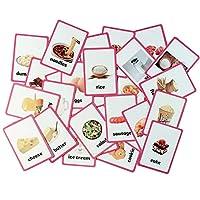 Baby Favors 教育的ライブ写真カード 子供エイジ 幼稚園前 学生 先生 学生 学生 学生 学生 学習の学習 3 inches x 4.25 inches ピンク educational cards