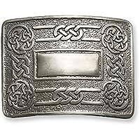 Celtic Knot Kilt Belt Buckle Matte with Classic Celtic Cross design, Scottish Belt Buckle For Men