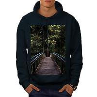 Wellcoda ブリッジ に ジャングル 自然 男性用 海軍 S パーカー