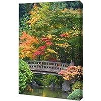 オレゴン州ポートランド、Wooden Bridge Over池by Don Paulson – ギャラリーWrapped Gicleeキャンバスアートプリント – Ready To Hang 10