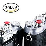 CamRebel 2個入り ソフトレリーズ アルミ合金製 シャッターレリーズボタン 1年間保障 FUJIFILM X10,20,30,100T Leica M1 M2 M3 M6 Can..