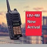 防滴 144/430MHz Dual Band アマチュア無線機 Baofeng UV9R 広帯域VHF/UHF デュアルバンド・ハンディトランシーバー 充電器、アンテナ、イヤホンマイクのフルセット(IP57防水)