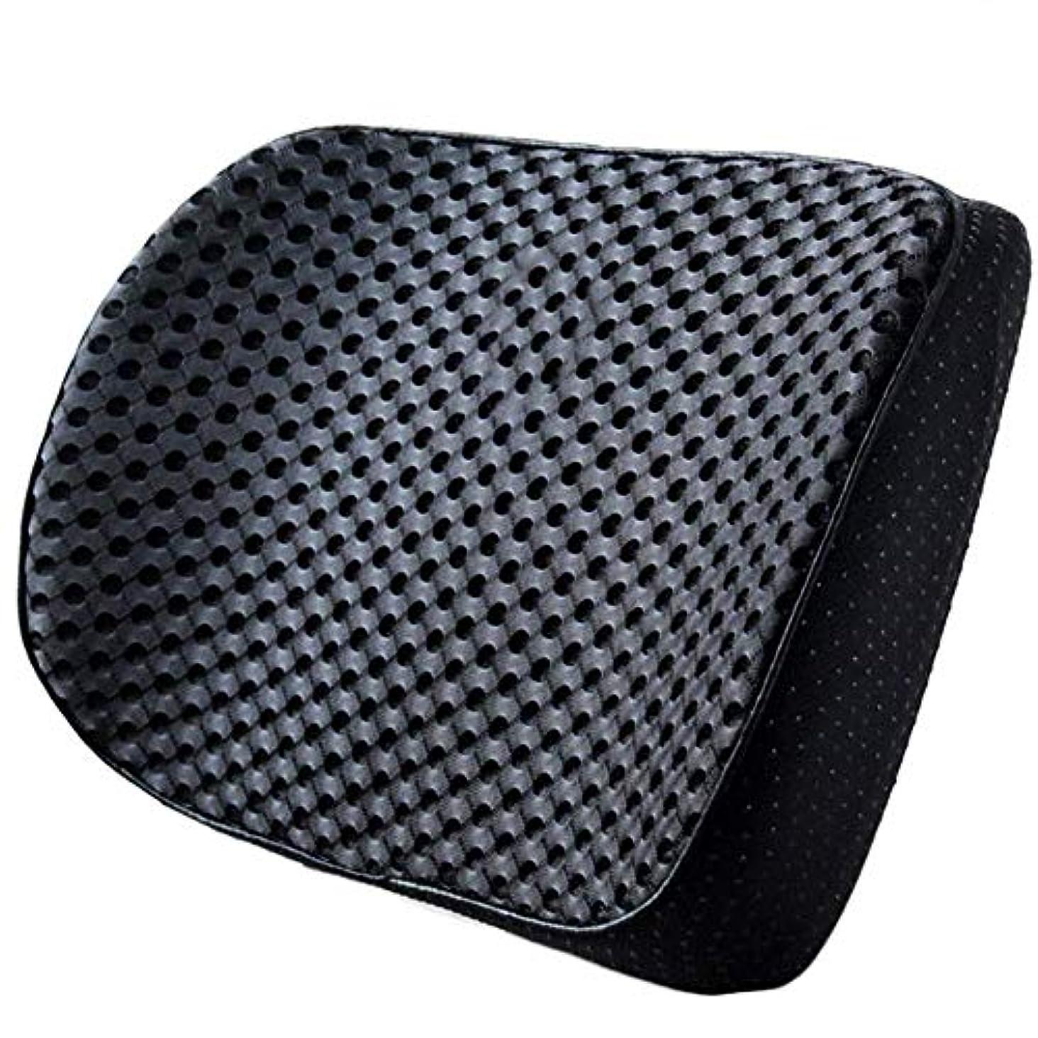 水没素晴らしきストレージ18-AnyzhanTrade 車のウエストクッション薄い車の車のランバーパッドホームオフィス小さなウエストバックウエストピローバック小さなコンパクトでポータブル柔軟な支持 (Color : ブラック, サイズ : 41x6x22cm)