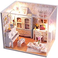 Sellworld DIY Dollhouses Wooden DIY House Kit Small House With LED Light and Cover/In Picture Tour