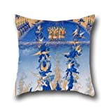 Cushion Cases Of Oil Painting Frティres Limbourg - Trティs Riches Heures Du Duc De Berry - Chute Des Anges Rebelles,for Family,girls,lounge,drawing Room,outdoor,kids 16 X 16 Inches / 40 By 40 Cm(each Side)