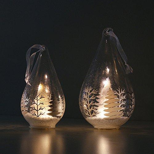 【Blooming&me】クリスマス特集! クリスマス雑貨 北欧風 おしゃれ オーナメント LEDライト ホワイトツリー オーナメント 照明 イルミネーションライト 14cm 18cm (18cm)