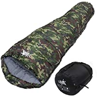 WhiteSeek(ホワイトシーク) 寝袋 シュラフ マミー型 コンパクト収納 抗菌タイプ 最低使用温度 -15℃