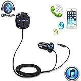 EinCar Bluetoothカーキット、5V / 2.1AのUSB車の充電器とワイヤレス音楽ストリーミングやハンズフ…