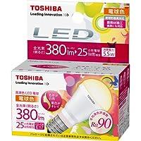 東芝 E-CORE(イー・コア) 高演色LED電球 ミニクリプトン形 5.5W (断熱材施工器具対応・白熱電球25W相当・380ルーメン・電球色) LDA6L-D-H-E17/S