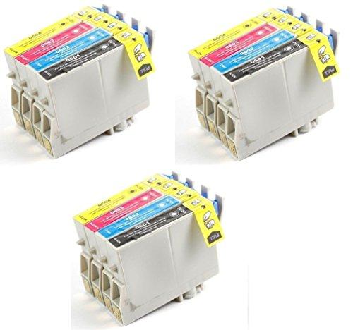 Aria Supplies リサイクルインクジェットカートリッジ 12パック Epson T060#60 T060120 T060220 T060320 T060420 Stylus C68, C88, C88Plus, CX3800, CX3810, CX4200, CX4800, CX5800F, CX7800