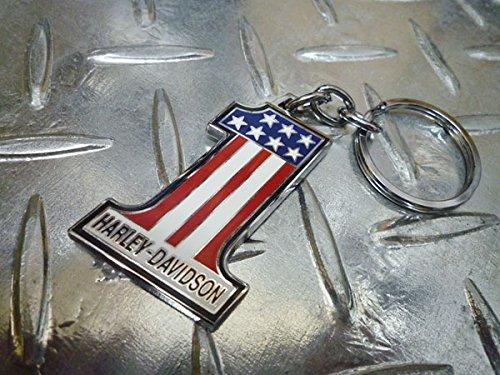 HARLEY-DAVIDSONハーレーダビッドソン USAフラッグ アメリカン キーホルダーHDKD153キーリング 鍵 カギ バイク バイカー