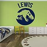 でパーソナライズ名前壁ステッカーJurassic T Rex恐竜壁デカール子供用装飾で使用可能な5サイズ25色 03. Medium 79cm (W) x 98cm (H)