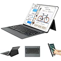 新しい10.5インチiPad Pro キーボード GreenLaw 省エネ設計 スタンド機能付き PUレザーキーボード 手帳型 軽量 iPad Pro 10.5対応 (ブラック)