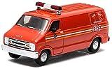 """GREENLIGHT 1:64scale FDNY """"1976 DODGE B-100 HAZ-MAT OPERATIONS VAN""""(Red)  グリーンライト 1:64スケール 「1976 ダッジ B-100 ハズマット オペレーションズ バン」(レッド) ニューヨークシティ 消防 レスキュー [並行輸入品]"""