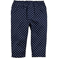 Carter's Girl's Pull-On Twill Polka-dot Pants; Navy