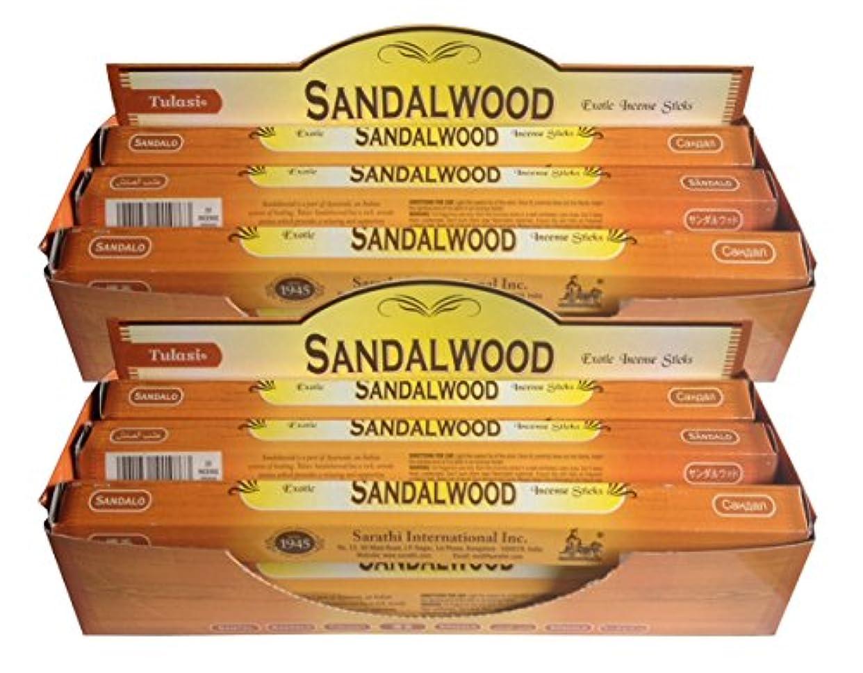 そしてにじみ出る接続詞トゥラシ お香 サンダルウッド 約20本×12個セット