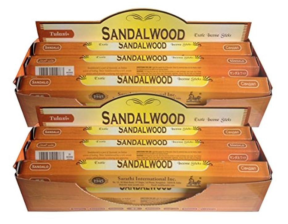 感覚不変動かないトゥラシ お香 サンダルウッド 約20本×12個セット