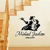 ウォールステッカー 壁紙 転写式 マイケル・ジャクソン(Michael Jackson)転写式貼り方解説書付)