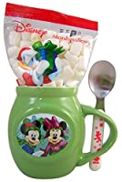 Disney CharacterクリスマスMug and Spoon Gift Set with Cocoa Mix andマシュマロ、1.70 Oz グリーン 40149