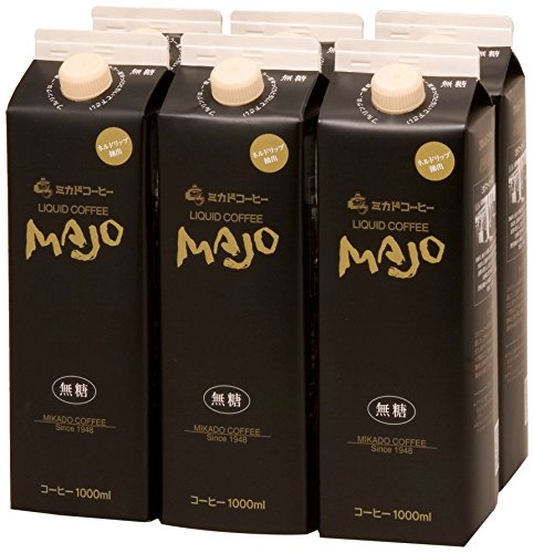 ミカド珈琲 MAJOリキッドコーヒー無糖(C-30)1000ml(6本入り)