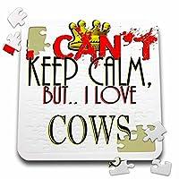 ブロンドDesigns I Cant Keep Calmが、I Love–I Cant Keep Calm–牛、10x 10インチパズル( P。_ 241943_ 2)