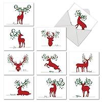 Seasonal Silhouettes Seasons Greetings Funny Paperカード 10 Assorted Seasons Greetings Cards (M2937SGG)