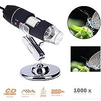 ポータブルusbデジタル電子顕微鏡8 led拡大鏡1000xビデオカメラ修復ツールusbガジェット