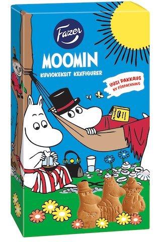Fazer Moomin cookie 175g ファッツェル ムーミン クッキー ビスケット 175g 10箱セット ムーミン谷のキャラクターの形のクッキーです フィンランドのクッキーです [並行輸入品]
