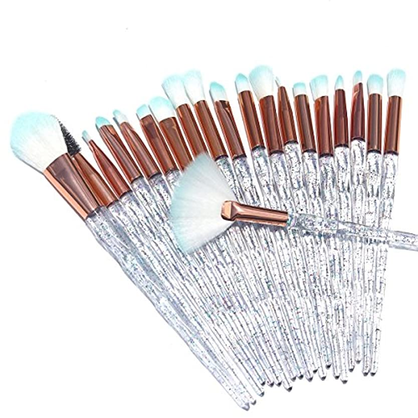 湾記憶に残る長方形AiceBeu 20本メイクブラシ 眉毛ブラシ アイシャドーブラシ リップブラシ (トランスペアレント)