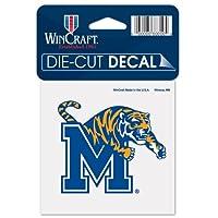 """NCAAメンフィス大学52836012Perfectカットカラーデカール、4"""" x 4インチ、ブラック"""