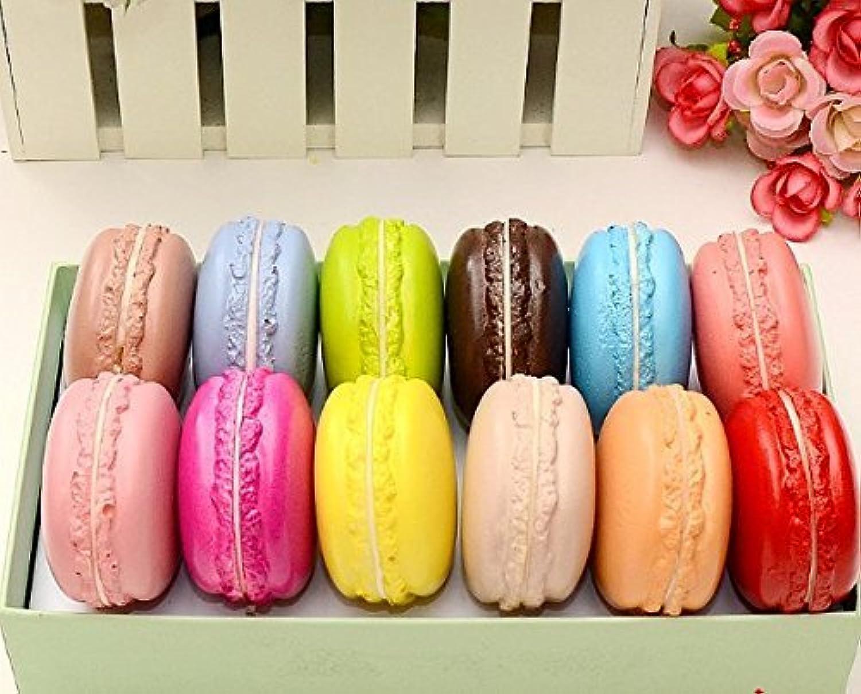 LONGPRO かわいい マカロン 食品サンプル 12色セット 本物そっくり! おもちゃ 家 飾り ディスプレイなどに