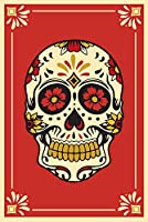 Day of the Dead–シュガースカルと花パターン 24 x 36 Giclee Print LANT-72585-24x36