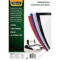 Fellowes Futura Polpropylene Binding Cover- Clear Frosted (Pack of 100)