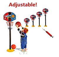 Elloapic Mini調整可能バスケットボールフープElevatedタイプバスケットボールスタンドBasketball Gameスポーツtoy-インドアアウトドア楽しいスポーツNoveltyおもちゃwith Oneバスケットボールと1つInflator