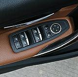 VCiiC パワーウィンドウ スイッチ カバー 8pcs セット(適合車種: BMW 新型 3系)
