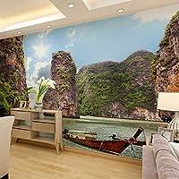 Lcymt アート絵画モジュラーHdプリントキャンバスポスター額装ホームデコレーション5ピースサンセットシービュー風景リビングルーム壁絵E-280X200Cm