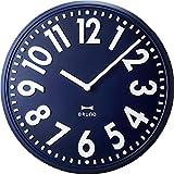 BRUNO エンボスウォールクロック BRUNO ブルーノ エンボスウォールクロック BCW013 掛け時計 掛時計 壁掛け時計 壁掛時計 おしゃれ (ネイビー)