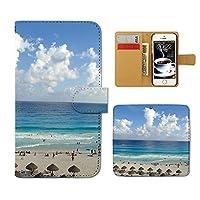 (ティアラ)Tiara V30+ L-01K スマホケース 手帳型 海 手帳ケース カバー 夏 海水浴 海岸 サマー マリン E0151020100203