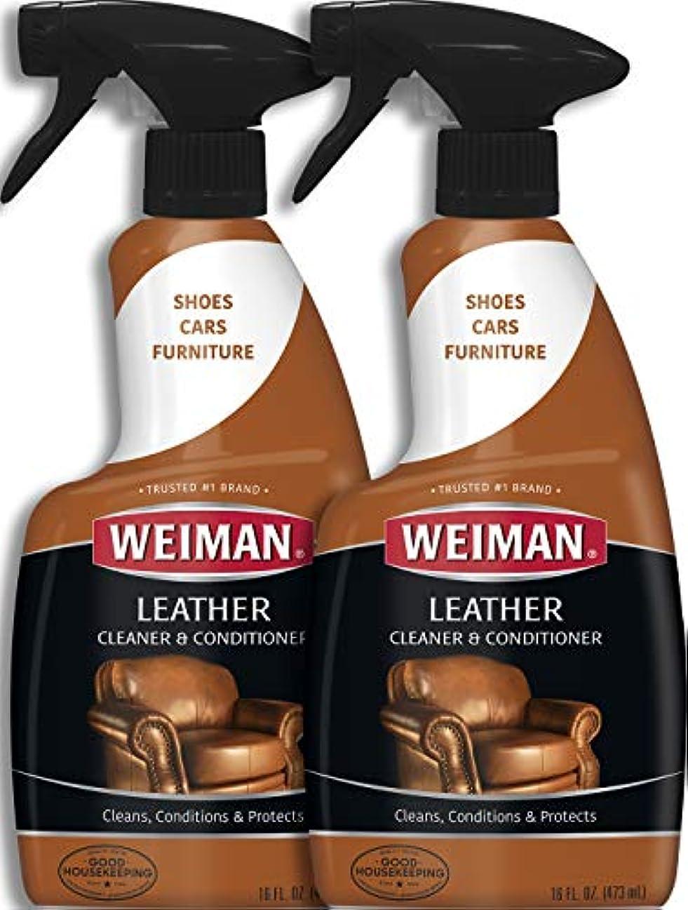 帽子突き刺す別々にWeiman Leather Cleaner & Conditioner (16 fl oz – 2パック)
